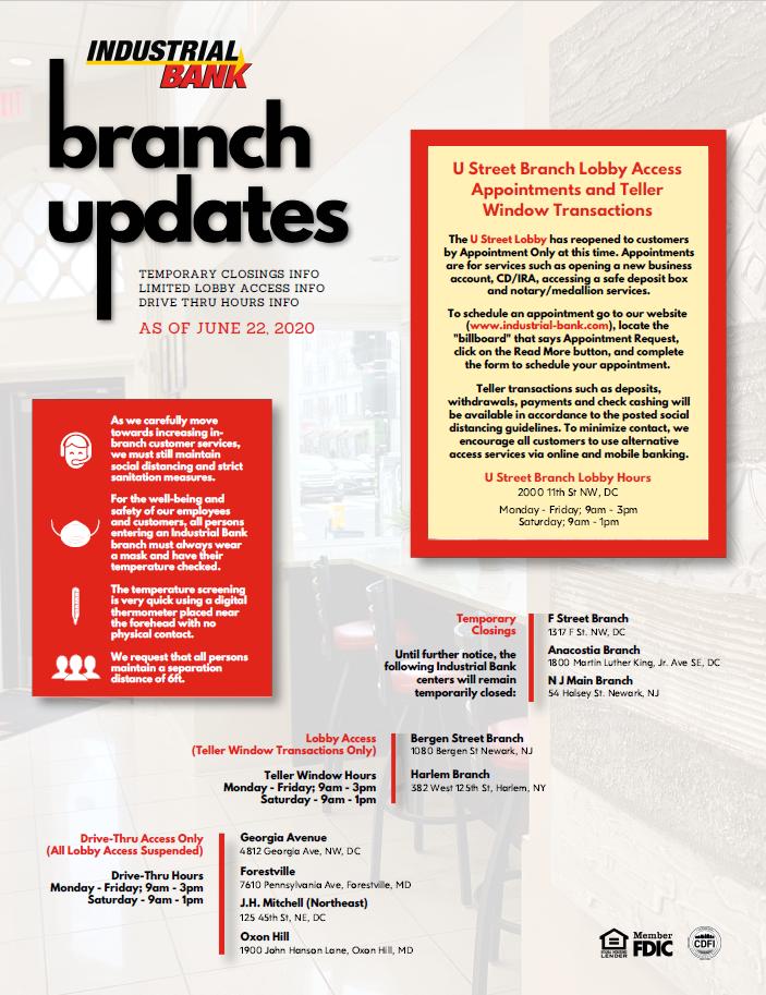 branch updates 6.22.20