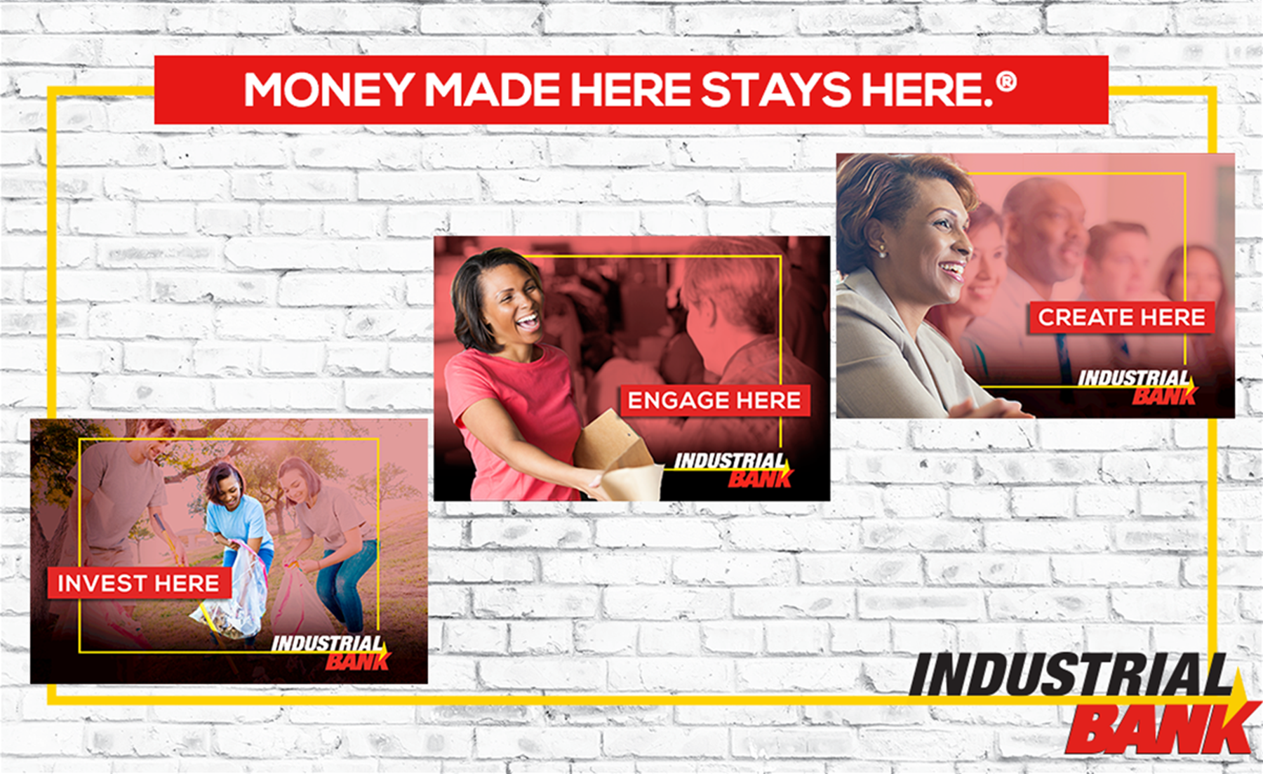 Money Made Here Stays Here Campaign - invest here, engage here and create here.